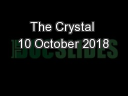 The Crystal 10 October 2018