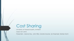 Cost Sharing University of Massachusetts, Amherst