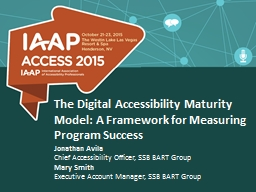 The  Digital Accessibility Maturity Model: