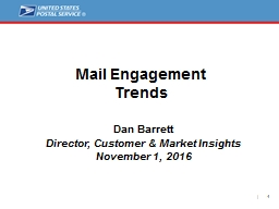 Mail Engagement Trends  Dan Barrett