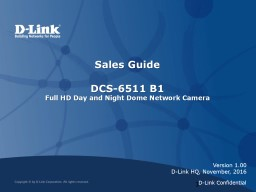 Sales Guide   DCS-6511  B1 PowerPoint PPT Presentation