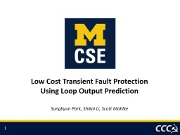 Low Cost Transient Fault Protection PowerPoint PPT Presentation
