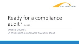 Ready for a compliance audit?