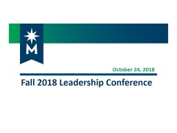 October 24,  2018 Fall 2018 Leadership Conference