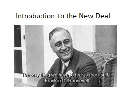 Introduction to the New Deal
