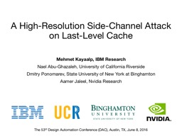 A  High-Resolution  Side-Channel Attack