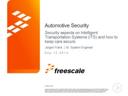 Automotive Security Security aspects on Intelligent Transportation Systems (ITS) and how to keep ca PowerPoint Presentation, PPT - DocSlides