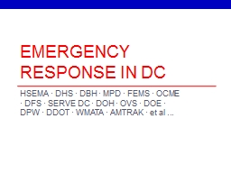 Emergency response in dc PowerPoint PPT Presentation