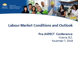 Labour Market Conditions and Outlook