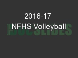 2016-17 NFHS Volleyball