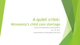 A quiet crisis: Minnesota's child care shortage