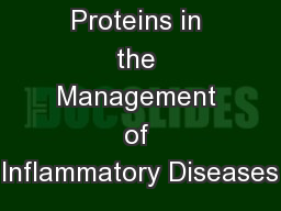 Acute Phase Proteins in the Management of Inflammatory Diseases