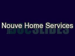 Nouve Home Services