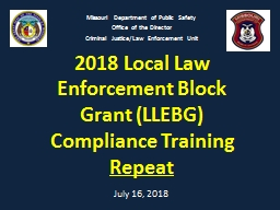 2018 Local Law Enforcement Block