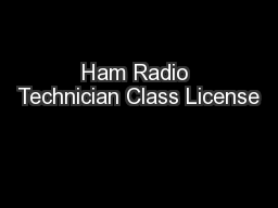 Ham Radio Technician Class License