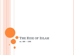 The Rise of Islam ca. 600 - 1200