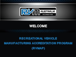 WELCOME RECREATIONAL VEHICLE PowerPoint PPT Presentation