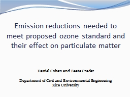 Emission reductions needed to meet proposed ozone standard and their effect on particulate