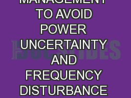 ADVANCED ENERGY MANAGEMENT TO AVOID POWER UNCERTAINTY AND FREQUENCY DISTURBANCE FROM HYBRID SYSTEMS