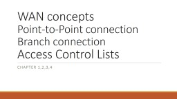 WAN concepts Point-to-Point connection