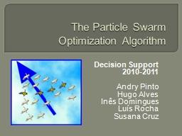 The   Particle   Swarm Optimization PowerPoint PPT Presentation