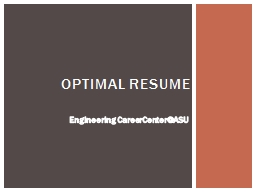 Optimal Resume           Engineering