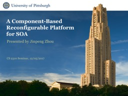 A Component-Based Reconfigurable Platform for SOA