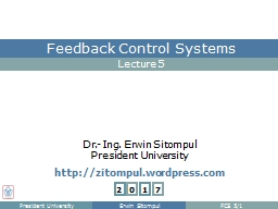 Feedback Control A Feedback Control seeks to bring the measured quantity to its desired value or se PowerPoint PPT Presentation