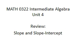 MATH 0322 Intermediate Algebra