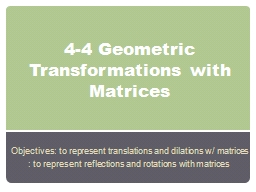 4-4 Geometric Transformations with Matrices