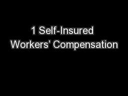 1 Self-Insured Workers' Compensation