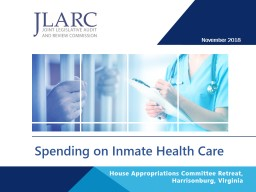 Spending on Inmate Health Care
