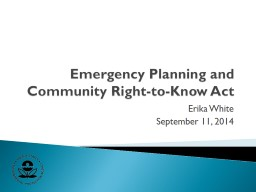 Emergency Planning and Community Right-to-Know Act