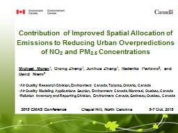 Contribution of Improved Spatial Allocation of Emissions to Reducing Urban