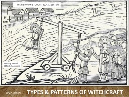 Ducking a Witch  (18thC chapbook)