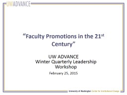 """"""" Faculty Promotions in the 21"""