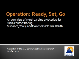 EBOLA CONTACT  TRACING FOR LOCAL HEALTH DEPARTMENTS