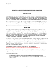 Chapter  CHAPTER  MENS REA  CONCURENCE AND CAUSATION I
