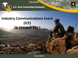 Industry Communications Event