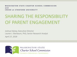 WASHINGTON STATE CHARTER SCHOOL COMMISSION