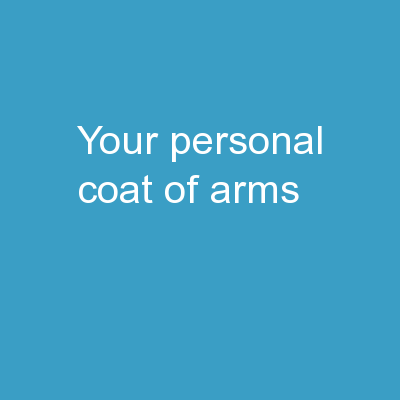 Your Personal  Coat of Arms