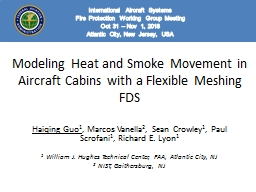 Modeling Heat and Smoke Movement in Aircraft Cabins with a Flexible Meshing FDS