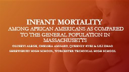 INFANT MORTALITY     AMONG AFRICAN AMERICANS AS COMPARED PowerPoint PPT Presentation