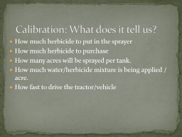 Calibration: What does it tell us?