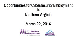 Opportunities for Cybersecurity Employment