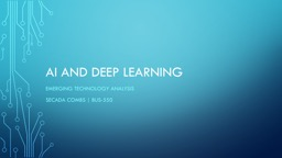 AI and deep learning Emerging technology analysis
