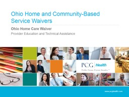 Ohio Home and Community-Based Service Waivers