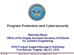 Melinda Reed Office of the Deputy Assistant Secretary of Defense