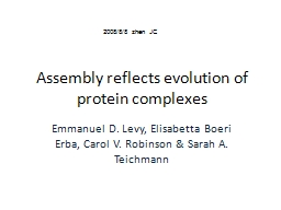 Assembly reflects evolution of protein complexes