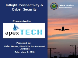Inflight Connectivity & Cyber Security